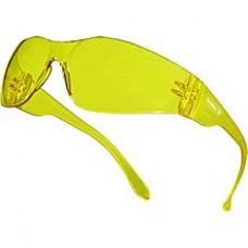 "DELTAPLUS monobloc polycarbonate glasses ""BRAVA YELLOW"" (yellow)"