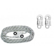 Anchor Rope AC100 Ø14mm 20m with 2 carabines