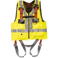 DELTAPLUS safety harness with high visibility vest