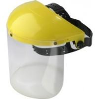 Visor holder with clear polycarbonate visor