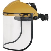 DELTAPLUS Visor Holder with Clear Polycarbonate Visor