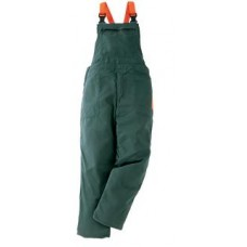 Chainsaw protective bib-trousers