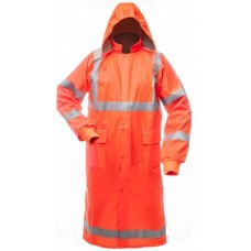 High Visibility Rain Coat ORANGE