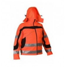 Softshell high visibility jacket STARMAX ORANGE