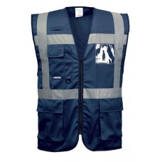 Executive vest with reflective strips IONA