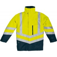 "DELTAPLUS high visibility parka  ""OPTIMUM"" 4 in 1"