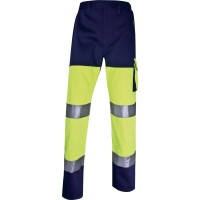 DELTAPLUS HIGH VISIBILITY WORKING TROUSERS