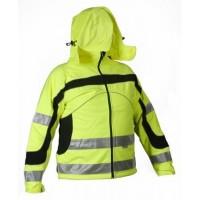 Softshell high visibility jacket  STARMAX YELLOW
