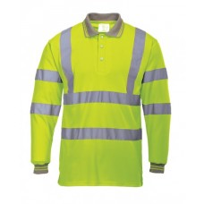 High visibility Long Sleeved Polo Shirt
