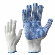 Knitted gloves with PVC dotting (one side)