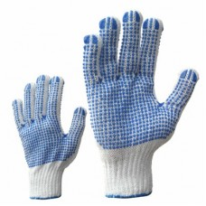Knitted gloves with PVC dotting (both sides)