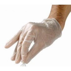 Clear disposable vinyl gloves (100pcs.)