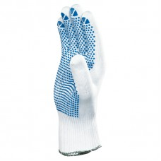 Polyamid knitted gloves with PVC dotting (one side)