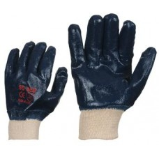 Nitrile coated gloves with elasticated cuffs