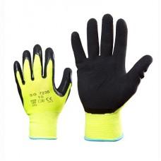 Флуоресцентные перчатки покрытые мягким латексом