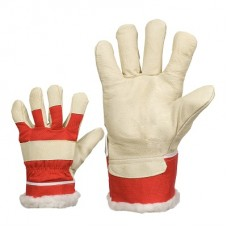 Winter gloves of smooth pig leather