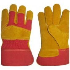 Winter working split leather gloves