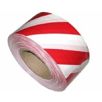 White and red hazard warning marking tape (500m)